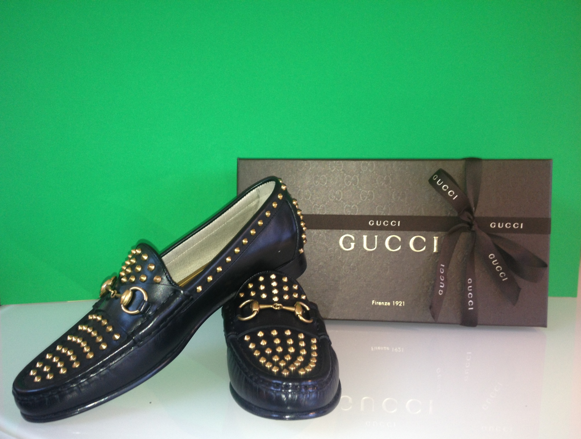fa82513aac2 Gypsetgirl Giveaway  60th Anniversary Gucci Spiked Loafer - Gypset ...